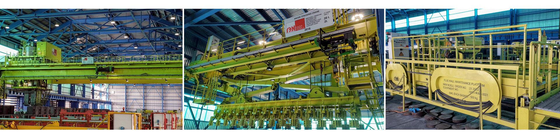 carbon handling system alumnium